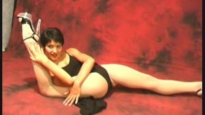 Amazing flexible german model Aida