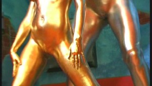 Lesian duo complete painted in golden color