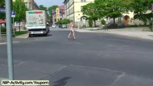 Jeamie - Hot Public Nudity Movie With Horny Babe