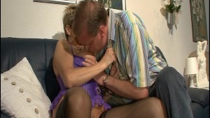 Older couple suck and lick one another