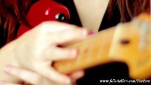 Fellucia Blow Plays Guitar, Gives Blowjob