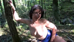 Mature Katia in the woods