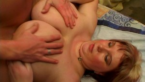 Large and lovely lady likes long strokes