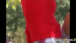 18yo teens totally naked in forest