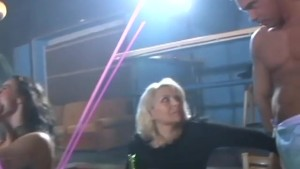 Milf and Coed suck strippers cock