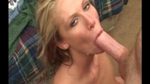 Superb blonde cock sucking