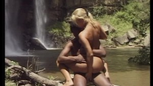 Interracial fuck in the forest