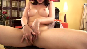 Sweet brunette Gizela masturbating