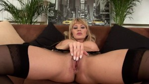 Cute blonde Greta solo
