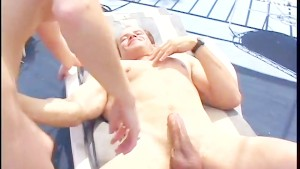 Cutie caught in the middle of a gangbang - Pandemonium