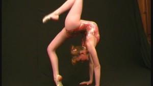 Russian flexible ballerina show