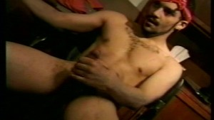 Short solo scene with big load