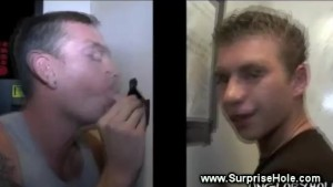 Straight dude tricked into gay blowjob