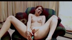 Young Redhead Needs Two Toys to Cum