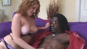 Redhead Pops Cherry With Black Guy