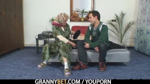 She pleases his horny young cocks