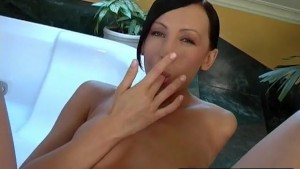 Brunette s Dildo Makes Her Scream