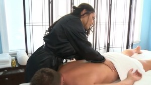 Jessica Bangcock Massages a Hard Dick