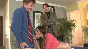 Stepdaughter Sucking and Fucking Threesome