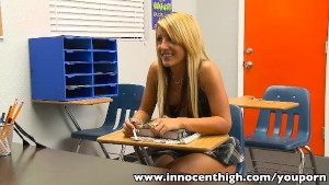 InnocentHigh Bigtits blonde schoolgirl Holly Taylor fucks prof