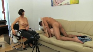 FemaleAgent. Stud gets stage fright
