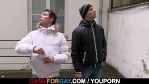 Hetero guy s first anal pounding