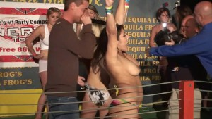 Cute Teens Get Wild In This Wet T-shirt Contest - DreamGirls