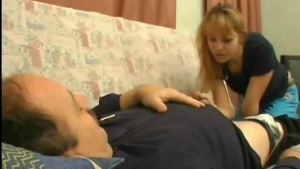 Taking care of sick man s cock