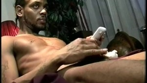 Muscled Black Hunk Jerks Off - Encore Video