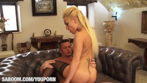 Jordan Kali hot blonde surprise at Saboom