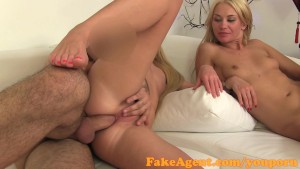 FakeAgent Blondes have more fun doing anal in casting