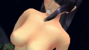 Cute Riku doing blowjob with her legs up