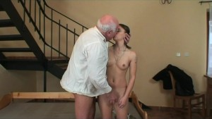 Old man fucks young chick