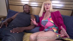 Blonde granny Tit Fucks With Her New Boobs And Rides Cock