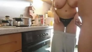 Making breakfast with sense of sex