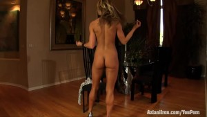 Aziani Iron Abby Marie shows her sexy clit