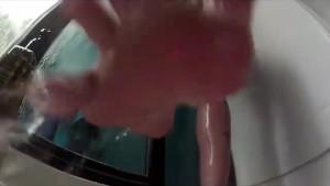 Hot big titty Leya Falcon blonde takes a shower