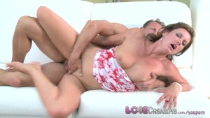 Love Creampie Hot mom gets the fuck of her life and multiple orgasms