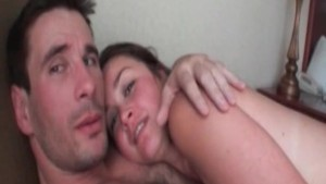 Super hot brunette gives oral sex