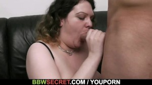 BBW lures him into hot sex