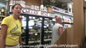 Naked and Pee in Liquor Store