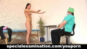 Young babe visits a gynecologist