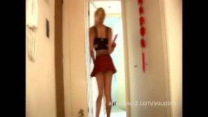 Angeles Cid in a short skirt