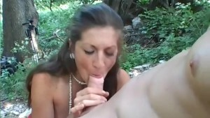 Cute babe fucked in the woods - Telsev