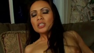 Asian with big natural tits gets covered in cum - Shock Wave