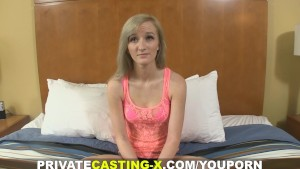 Private Casting X - This kitten never says NO