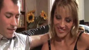 Blonde MILF in for a facial