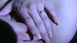 Blonde fingering and masturbating in thigh highs