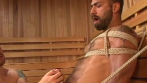 Hairy Hunk Bound and Edged