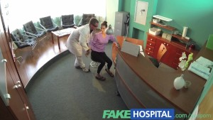 FakeHospital Doctor faces sexy brunette from insurance company